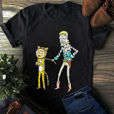 Funny Gildan Rick & Morty* Joe Tiger King Exotic Cotton T-Shirt Black Navy S-5XL