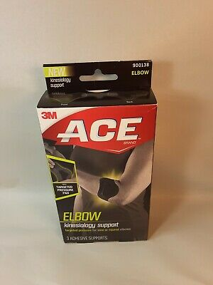 1 Box of 3M ACE Kinesiology Elbow Supports  (3 Supports Each)