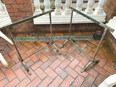 vintage wrought iron stands  two