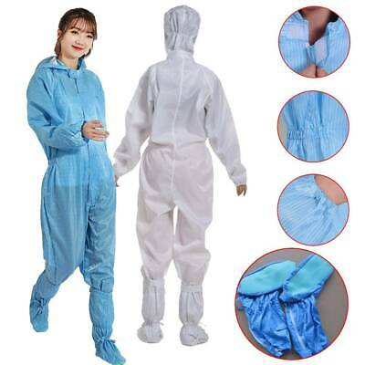 Reusable Washable Coveralls Anti-static Hood Painters Protective Overalls Suits