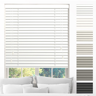 Made to Measure 7 Colours 35mm // 50mm Slats Real Wood Wooden Venetian Blinds