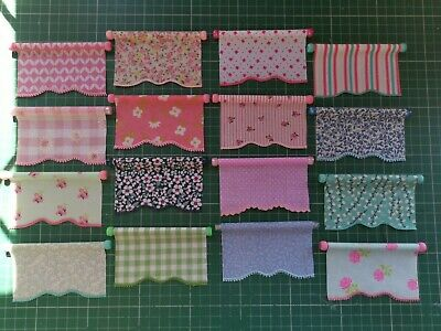 Dolls House Roller Blind - Assorted designs - 1/12th scale