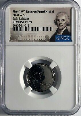 2020 W Ngc Pf69 Early Release Reverse Proof First W Mint Mark Jefferson Nickel