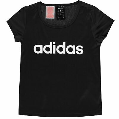 adidas Classic Logo T Shirt Youngster Girls Short Sleeve Performance Tee Top