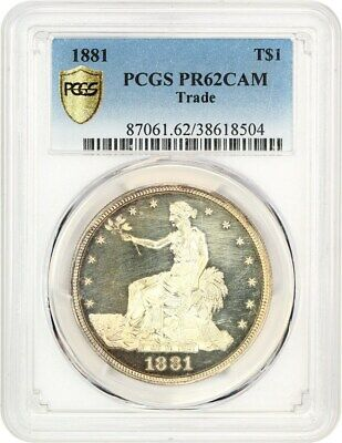 1881 Trade$ PCGS PR 62 CAM - Scarce Proof-Only Trade Dollar - US Trade Dollar