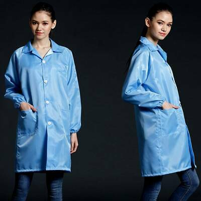 Protective Isolation Gown for Doctor Long Lab Jacket Coat Workshop Workwear
