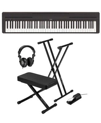 Yamaha P-45 Digital Piano Bundle With Gearlux Double-braced Stand Padded Bench