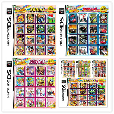 New208/488/500/520 IN 1 Games Card Cartridge Multicart For Nintendo DS 3DS 2DSR4