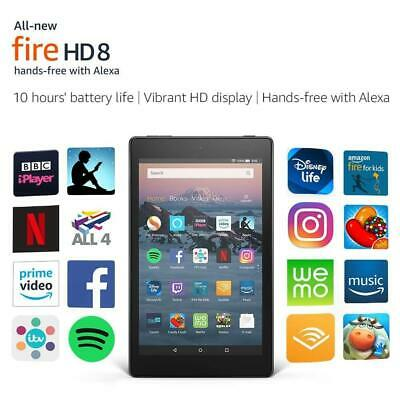 New Amazon Kindle Fire HD 8 Tablet with Alexa, Latest Model UK Stock
