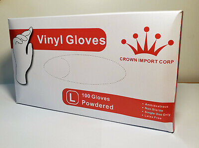 Vinyl Gloves 100ct | Latex Free | Disposable | Non-Sterile Large & Extra Large