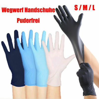100PCS Premium Vinyl Nitrile Rubber Cleaning Disposable Gloves Powder Free Latex