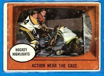 1961-62 Topps Hockey Card#21   Action Near The Cage