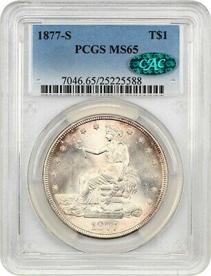 1877-S Trade$ PCGS/CAC MS65 - Great Type Coin - US Trade Dollar