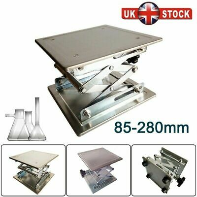 Stainless Steel Lab Stand Laboratory Platform Lift Rack Lifter 200*200*280mm UK