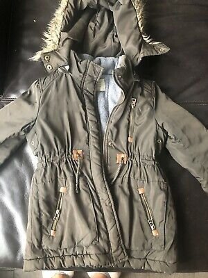 Girls Parka Coat Winter Autumn Zara Age 5-6 Lovely Jacket