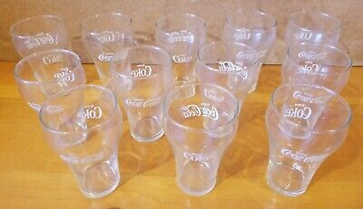 12 Vintage Coca-Cola Fountain Bell Drinking Glasses!