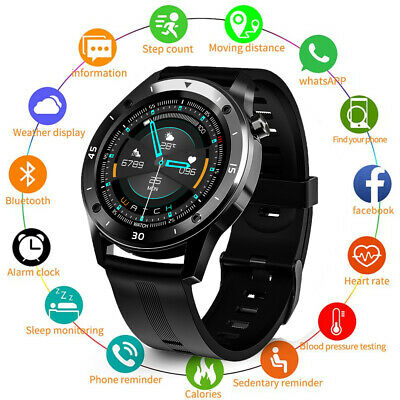 For HUAWEI Samsung Smart watch Round Sport wristband Heart rate Fitness Trackers
