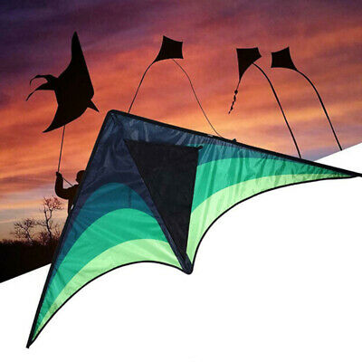 Large delta kite for kids and adults single line easy to fly kite handle  HO P1