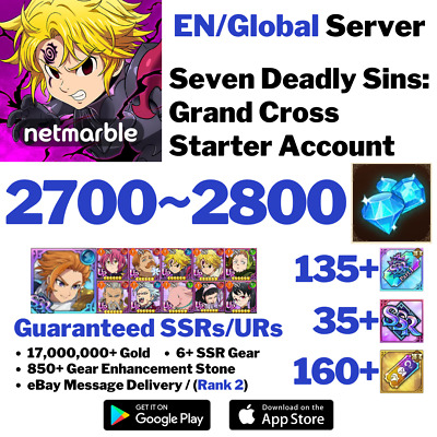 [Global] Seven Deadly Sins Grand Cross Starter Account 7Ds Green Escanor