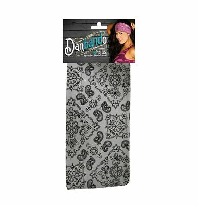 Red Black Paisley Numbskull Reversible Head Wrap Band Bandanna Free Shipping