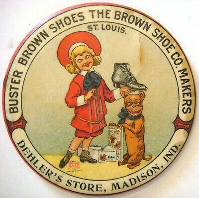 RARE MIRROR- Dehler's Store, Madison, Ind. Buster Brown Shoes the Brown Shoe Co