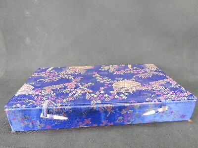 Chinese 8 Chequer Scenery Pattern Snuff Bottle Brocade Box