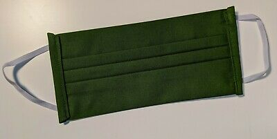 Handmade Reusable Washable Cotton Face Cover New Green