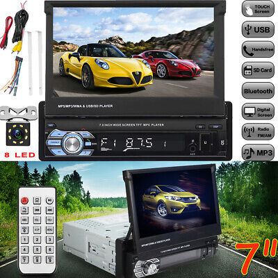 "Autoradio +Kamera 7"" Touchscreen Bildschirm Bluetooth USB SD 1DIN Radio MP5 MP3"