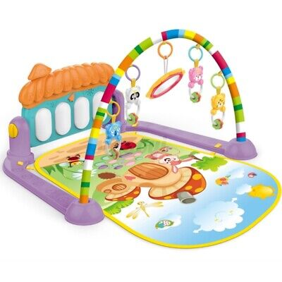 4 in 1 Large Play Mat Kids Baby Gym Playmat Fitness Piano Music Fun Girls