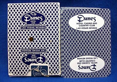Vintage Dunes Hotel Casino Las Vegas Nevada unsealed playing cards LQQK