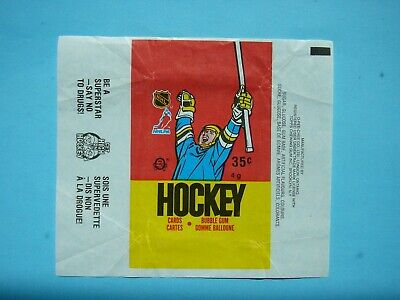 1987/88 O-Pee-Chee Nhl Hockey Card Wax Pack Wrapper Luc Robitaille Rookie Nd Opc