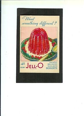 "Advertising Booklet ""48 New Jello Desserts""  Copyright 1931  Compete & Intact"