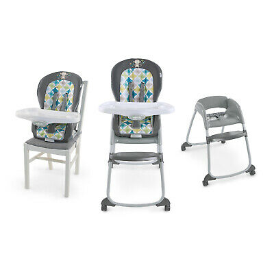 3-in-1 Kids High Chair Feeding Booster Seat Toddler Baby Ingenuity Trio