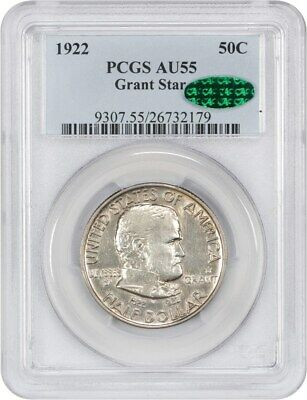 1922 Grant with Star 50c PCGS/CAC AU55 - Frosty! - Silver Classic Commemorative