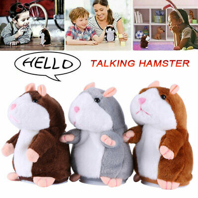 Cute Talking Hamster Electronic Plush Toy Mouse Pet Sound Kids Children Gifts