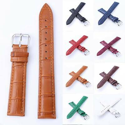 Watch Strap Genuine Leather Watch Band Replacement 12-24MM Men Women UK Seller