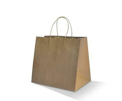 250 Paper Bags Takeaway Kraft Brown Small