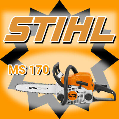 "STIHL MS170 Petrol Chainsaw 12"" 12 Inch Bar 30.1cc New Wood Cutting Tools Gas"