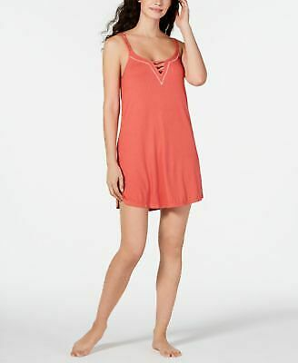 Jenni Ladder Front Scoop-Neck Chemise Nightgown Medium Red Size XL