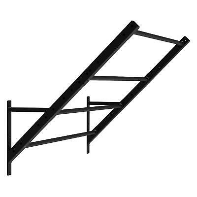 Monkey Ladder Accessorio Power Rack Sbarre Fitness Upright Workout 167 Cm Nero