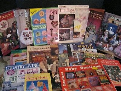 Huge Lot Of 25 Craft Eggs Painting Corsage Cuties  Magazines Softcover Books