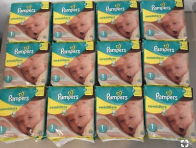 PAMPERS SWADDLERS SIZE 1 (Mega box of 240 diapers- 12 packs of 20)