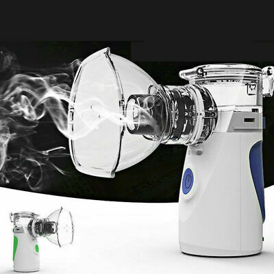 UK Ultrasonic Inhaler Asthma Humidifier Respirator Machine Handheld Portable USB