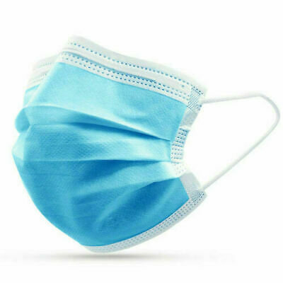 Disposable Face Mask 10 PCS 3-Ply Medical Surgical Dental Ear-Loop Mouth Cover