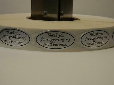 THANK YOU FOR SUPPORTING MY SMALL BUSINESS 1X2 Oval Sticker matte silver 250/rl