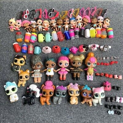 Lot 100 LOL Surprise Doll Queen bee Lil Pet outfit dress shoes Dolls Toys gifts