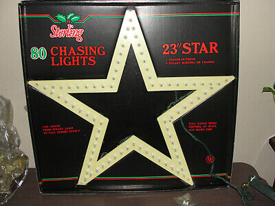 """Sterling 23"""" Marquee Star Vintage 80 Light Chasing Christmas Star"""