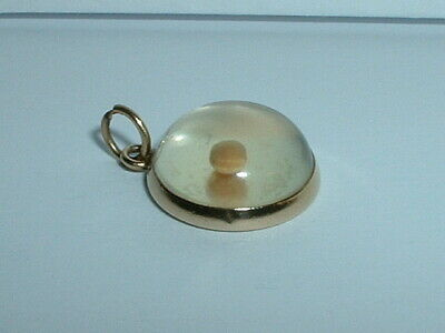 0.8IN long x 0.4IN wide 14k Yellow Gold Mustard Seeds Charm