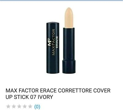 Max Factor Erace Concealer Cover Up Stick  07 Ivory Avorio Correttore