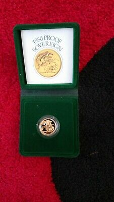 Royal Mint 1980 Gold Sovereign Full Proof